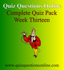 Thumbnail Quiz Questions Online Week Thirteen Quiz