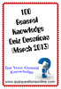 Thumbnail 100 General Knowledge Quiz Questions March 2013
