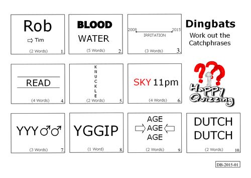 Product picture Dingbats Catchphrase Quiz (DB-2015-01)