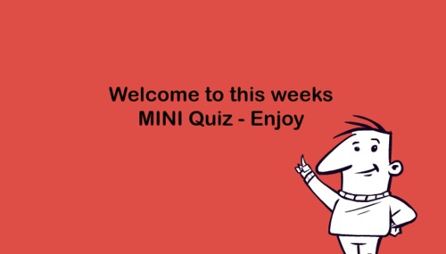 Product picture Mini General Knowledge Quiz - 18th Oct 2015
